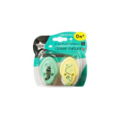 Tommee Tippee Closer to Nature Soother x2 Holder, Yellow & Green
