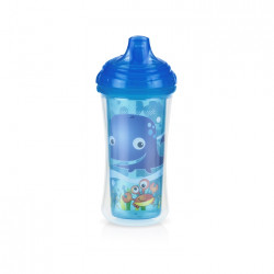 Nuby Insulated Click-it Hard Spout Cup 270ml - Blue