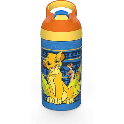 Zak Designs Lion King Water Bottle with Straw 16oz