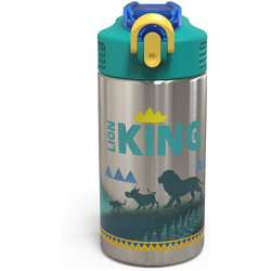 Zak Designs Lion King Live-Action 15.5oz Stainless Steel Palouse Bottle