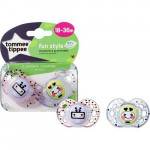 Tommee Tippee Pacifier Fun Style To 18-36 months, Pink and Purple