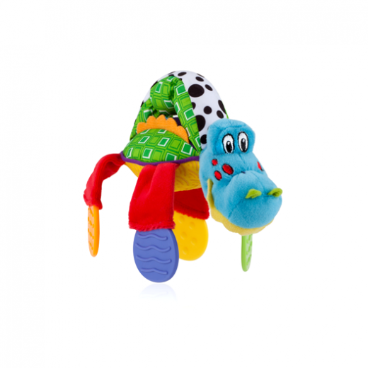 Nuby Floppers Teether Toy, Crocodile