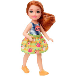 Barbie Club Chelsea Doll (6-Inch) With Red Hair, Sloth Graphic And Skirt
