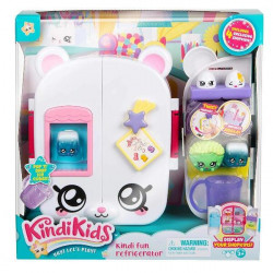 Kindi Kids Fun Refrigerator Playset Toy Includes 4 Shopkins