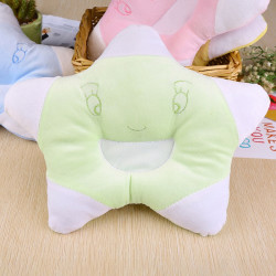 Baby Star Shape Pillow - Anti Roll Cushion - Bedding Cushion - Green