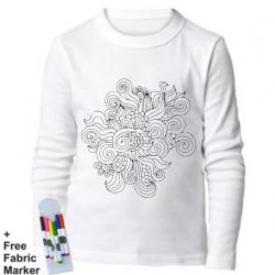 Mlabbas Floral Kids Coloring Long Sleeve Shirt 7-8  years