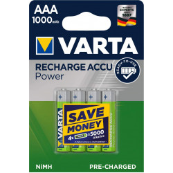 Varta Blisters Of 4 Accumulator/Battery Rechargeable AAA /LR3 1000mAh VARTA