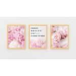 ExtraOrdinary Decorative Wood Framed Wall Art Prints, Peony Poster, A3