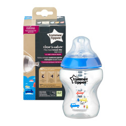 Tommee Tippee Closer to Nature 340 ml Decorated Bottle, Boy, +3 months