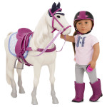 "Our Generation Sterling Gray Horse Horse for 18"" Doll"