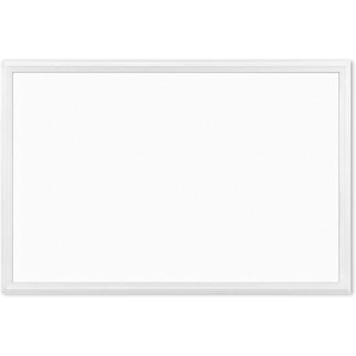 سبورة مغناطيسية ، 20 × 30 سم، إطار خشبي أبيض من يو براند