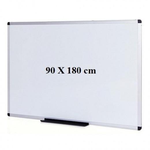 سبورة بيضاء - 90 سم × 180 سم + 1 ممحاة مجانية + قلم سبورة بيضاء