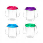 Sistema Drink cup with lid and spout 250 ml pink