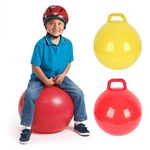 كرة أطفال بيبي تنط من عمر 1 إلى 3 سنوات - كرة قابلة للنفخ - بينك بن 10