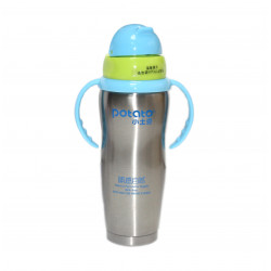 Potato Thermo bottle with a straw with Handle - +6m