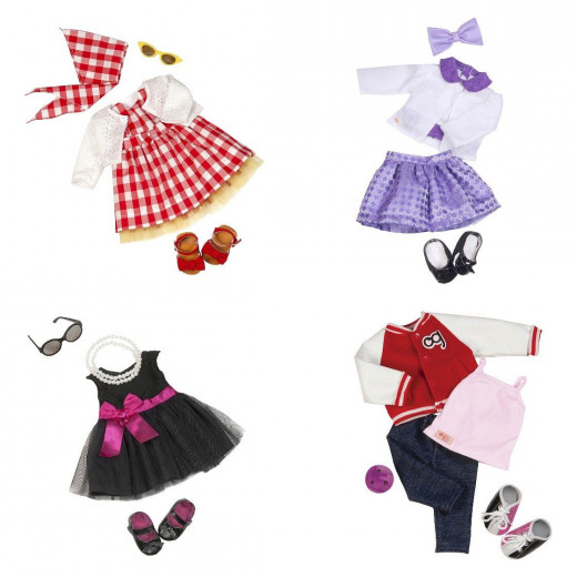 Our Generation Deluxe Retro Outfit - Ready to Get Preppy - Assortment