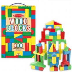 طقم مكعبات خشبية من ميليسا اند دو 100 قطعة