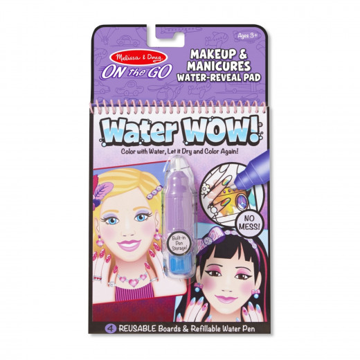 Melissa & Doug Water Wow! Makeup & Manicures - On The Go Travel Activity