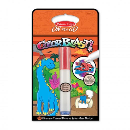 Melissa & Doug Dinosaurs Colorblast Book - ON the GO Travel Activity