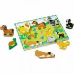 احجية و قطع خشبية بأشكال الحيوانات من ميليسا اند دو - 8 قطع