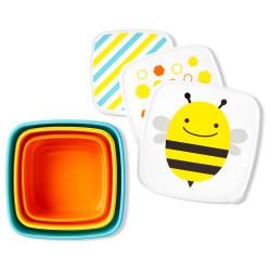 Skip Hop Toddler Food Storage Snack Box Set, Bee