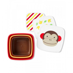 Skip Hop Toddler Food Storage Snack Box Set, Monkey