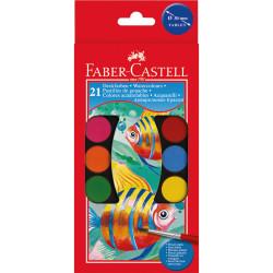 علبة ألوان مائية 21 لون من فابر كاستل
