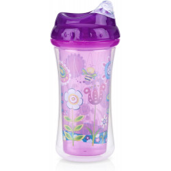 Nuby Insulated No-spill Clik-It Cool Sipper - 270 ml, Pink