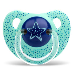 Suavinex Anatomical Silicone Pacifier 6-18m Dots Star 1pc