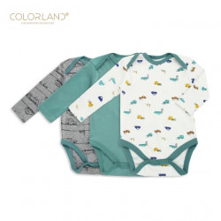 Colorland - (1) Baby Bodysuit 3 Pieces In One Pack - 18-24 Months