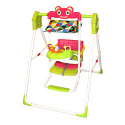 Green Swing With Colored Rattles