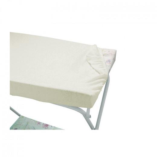 شرشف تيري لطاولة الزينة من إيتال بيبي ، أبيض