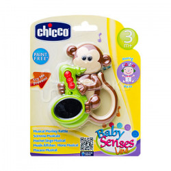 Chicco Baby Senses Musical Monkey Rattle