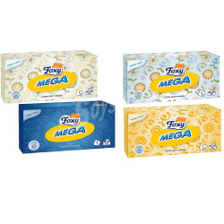 Foxy Mega Ultra Soft 2 Ply Tissues 200 Pcs, 1 Pack, assortment