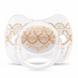 Suavinex Pacifier Premium Couture Physiological Teat 4-18 months - Gold
