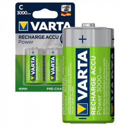 Varta Power Ready2use Rechargeable C/hr14 Batteries - 3000mah - 1x2