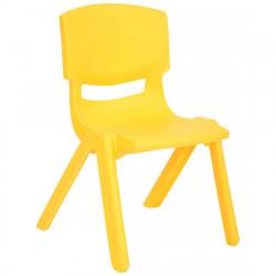 كراسي أطفال بلاستيكية قوية للغاية, اصفر