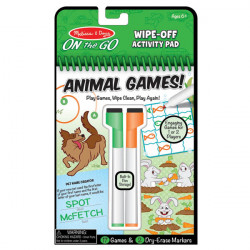 Melissa & Doug On the Go Wipe-Off Activity Pad Animal Games