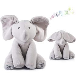 دمية بتصميم شكل الفيل ذات أصوات جميلة للغناء