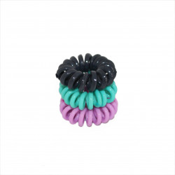Elastic Glossy Hair Bands Small, 3 Pieces, Assorted colors