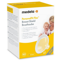 Medela PersonalFit Flex Breast Shields, 2 Pack of Small 21mm