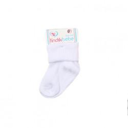 زوج جوارب الأطفال لحديثي الولادة, لون أبيض