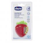 Chicco Fresh Relax Teething Ring (4M+), Apple or Strawberry, 1 Peak