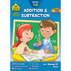 School Zone Addition & Subtraction Grade 1-2 , 32 pages