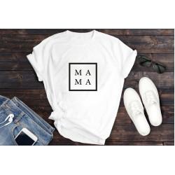 تي شيرت أبيض -بكتابة ماما, مقاس متوسط