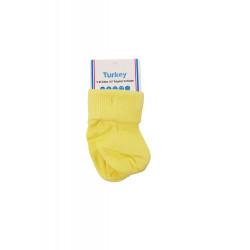 1 Pair of Baby Socks New born, Yellow