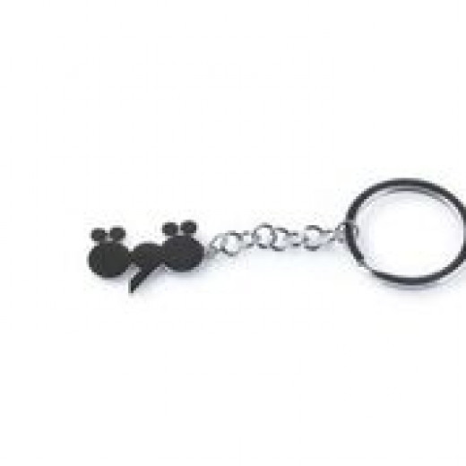 Silver Metal Keychain, Designed with Word of Strong