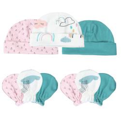 قبعة وقفازات للأطفال 3 قطع في عبوة واحدة من كالارلاند