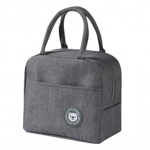 حقيبة غداء بسيطة، رمادي