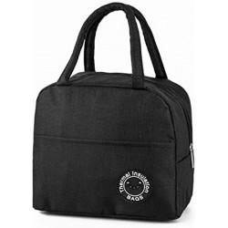 1pc Simple Lunch Bag , Black